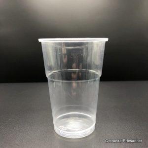 Becher 0,25 l Plastik Getränke Friesacher