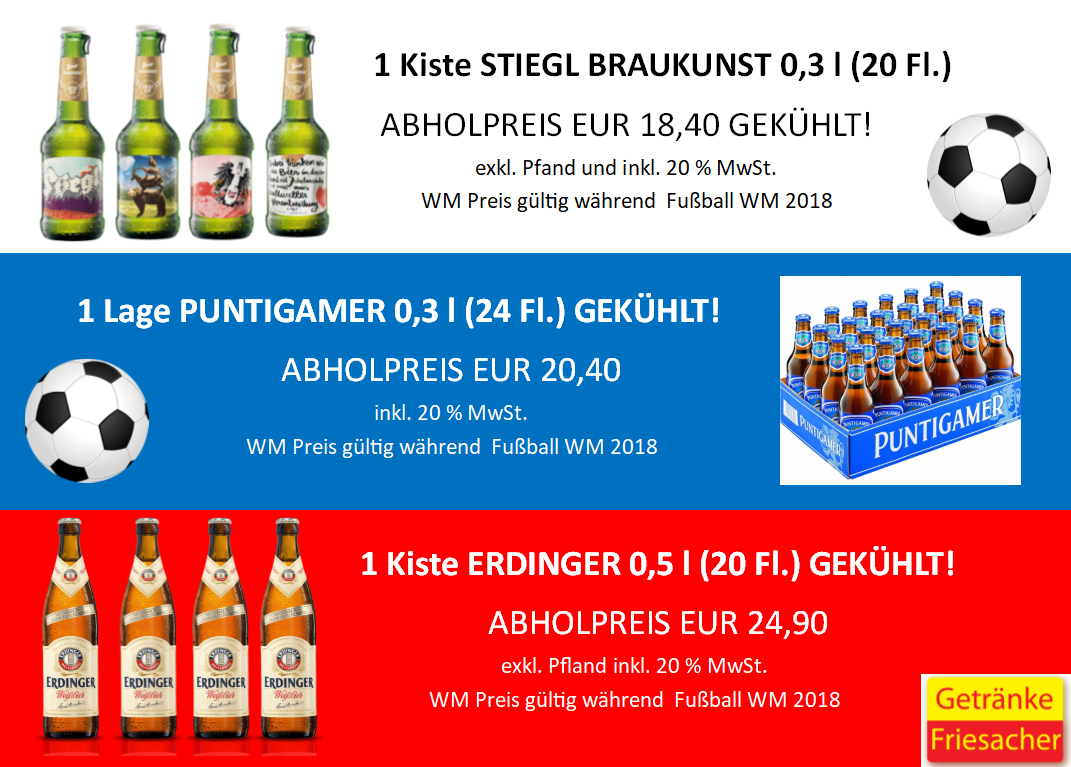 WM Getränke Angebote für Fußballfans und Nicht Fußballfans ...