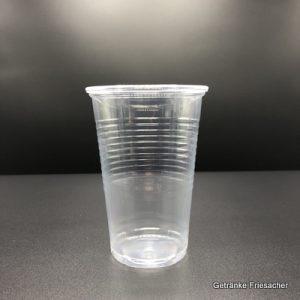 Becher 0,2 l Plastik Getränke Friesacher