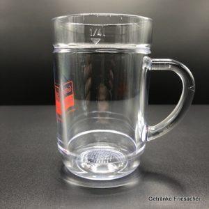 Weinkrug Plastik Spritzerglas 0,25 l Plastik Getränke Friesacher SAN Mietglas
