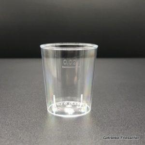 Schnapsglas 2 cl Plastik Getränke Friesacher