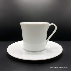 Kaffeetasse und Untertasse Getränke Friesacher Kaffeegeschirr mieten