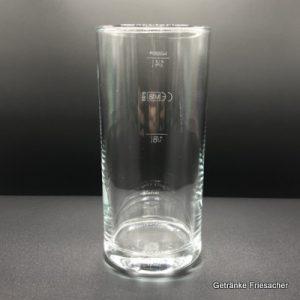 Wasserglas 0,25 l Getränke Friesacher Mietglas