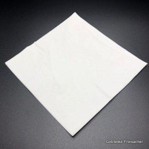Serviette weiß zweilagig 33 x 33 cm Getränke Friesacher