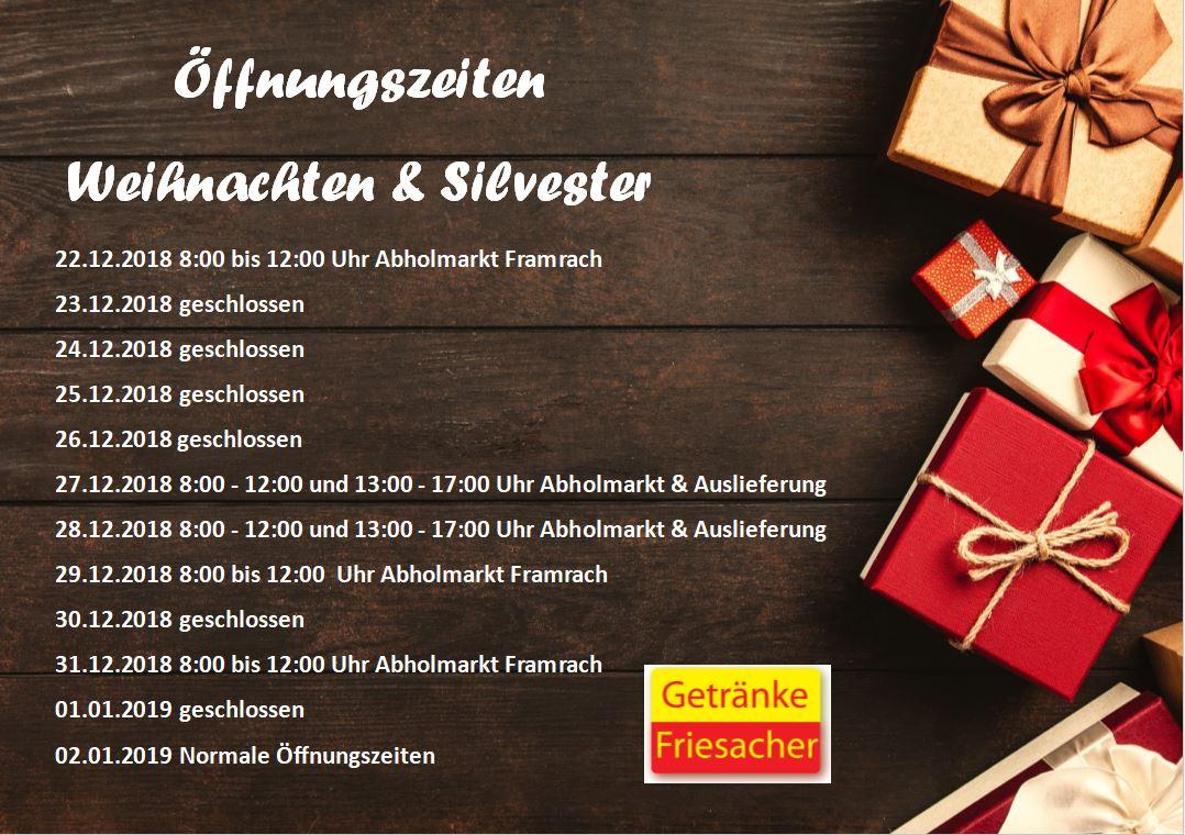 Г¶ffnungszeiten Silvester OsnabrГјck